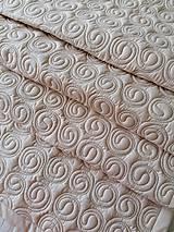 Úžitkový textil - Béžová zástena s hnedými slimáčikmi - 12236456_