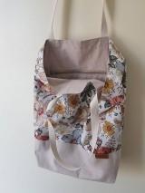 Nákupné tašky - Taška kreslené kvety - 12237798_