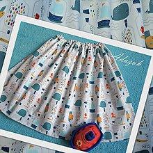 Detské oblečenie - Námornícka suknička - 12238488_