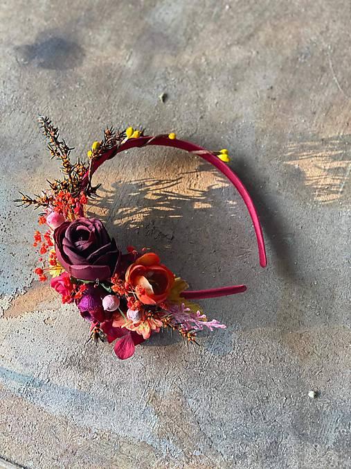 """Kvetinová čelenka """"objatie jesene"""""""