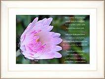 Papiernictvo - Svatební přání v rámu s předmluvou kvítku - 12236289_