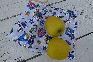 Úžitkový textil - FOLK vrecko obojstranné - 12238081_