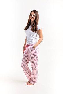 Pyžamy a župany - Laggar dámske pyžamové nohavice  (Svetloruzova bodka XL) - 12236541_