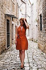 Šaty - ALISON vyšívané lněné šaty - 12237954_