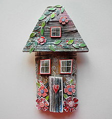 Dekorácie - Kvetinový domček - 12241502_