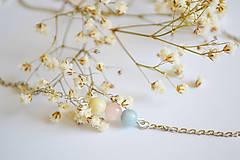 Náhrdelníky - Strieborný náhrdelník s morganitom-Breath - 12239757_