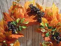 Dekorácie - Jesenný veniec - 12241675_
