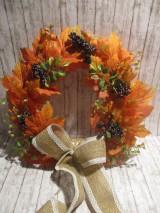 Dekorácie - Jesenný veniec - 12241676_