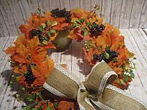 Dekorácie - Jesenný veniec - 12241677_
