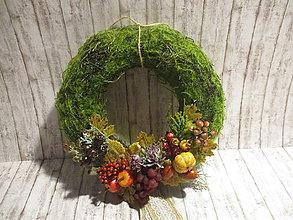 Dekorácie - Jesenný venček - 12241708_