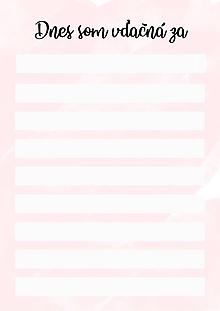 Papiernictvo - Zoznam každodenných vďačností na vytlačenie ♥ - 12240485_