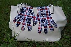 Rukavice - Úpletové rukavičky - Káro - 12241237_