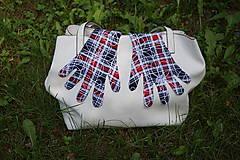 Rukavice - Úpletové rukavičky - Káro - 12241240_