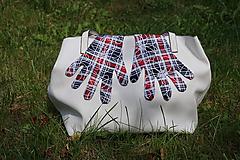 Rukavice - Úpletové rukavičky - Káro - 12241241_