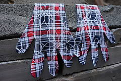 Rukavice - Úpletové rukavičky - Káro - 12241249_
