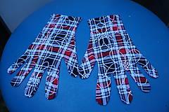 Rukavice - Úpletové rukavičky - Káro - 12241254_