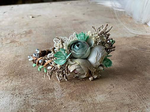"""Kvetinová čelenka """"spomienky vôňajú pokosenou trávou"""" - výpredaj z 18€"""