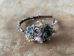 """Ozdoby do vlasov - Kvetinová čelenka """"rozohnať hmlu"""" - výpredaj z 18€ - 12240248_"""