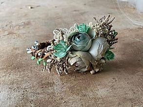 """Ozdoby do vlasov - Kvetinová čelenka """"spomienky vôňajú pokosenou trávou"""" - výpredaj z 18€ - 12240258_"""