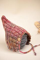 Detské čiapky - Detská pixie čiapočka MILLY, 100% merino - 12240184_