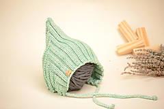 Detské čiapky - Detská pixie čiapočka ERIC, 100% merino - 12240251_
