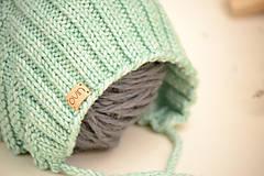 Detské čiapky - Detská pixie čiapočka ERIC, 100% merino - 12240252_