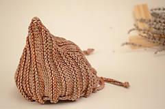 Detské čiapky - Detská pixie čiapočka LEYA, 100% merino (LEYA) - 12240898_