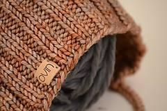 Detské čiapky - Detská pixie čiapočka LEYA, 100% merino (LEYA) - 12240899_