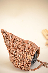 Detské čiapky - Detská pixie čiapočka LEYA, 100% merino (LEYA) - 12240900_
