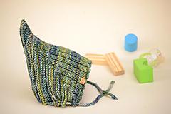 Detské čiapky - Detská pixie čiapočka THEO, 100% merino - 12240955_