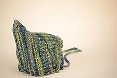 Detské čiapky - Detská pixie čiapočka THEO, 100% merino - 12240956_