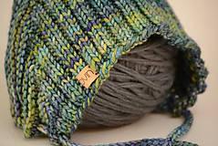 Detské čiapky - Detská pixie čiapočka THEO, 100% merino - 12240957_