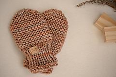 Detské doplnky - Detské rukavičky LEYA - ZĽAVNENÉ, 100% merino - 12241168_