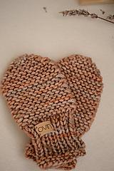 Detské doplnky - Detské rukavičky LEYA - ZĽAVNENÉ, 100% merino - 12241169_