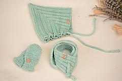 Detské súpravy - Baby set ERIC (čiapka, šál, rukavice), 100% merino - 12241219_