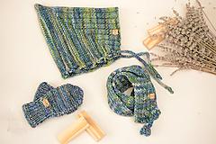 Detské súpravy - Baby set THEO (čiapka, šál, rukavice), 100% merino - 12241258_