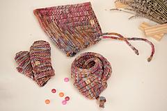 Detské súpravy - Baby set MILLY (čiapka, šál, rukavice), 100% merino - 12241270_