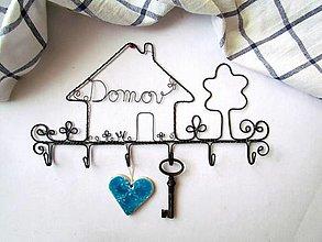 Nábytok - vešiak na kľúče (24,5 cm) - 12239613_