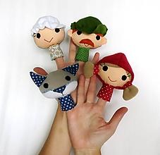 Hračky - Sada maňušiek na prst (Rozprávka o Červenej čiapočke.) - 12242480_