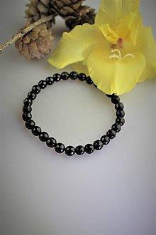 Náramky - čierny turmalín náramok ochranný - 12242530_