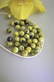Minerály - žltý tyrkys korálky 8mm, SUPERAKCIA! - 12242541_