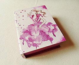 Krabičky - Drevená šperkovnica Príbeh o Láske - 12242830_