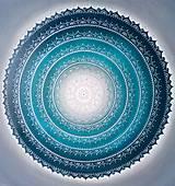 Obrazy - Mandala KOMUNIKÁCIA (smaragd - sivá - biela) 80 x 80 - 12243387_