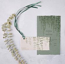 Papiernictvo - svadobné oznámenie 009, ručný papier - 12242539_