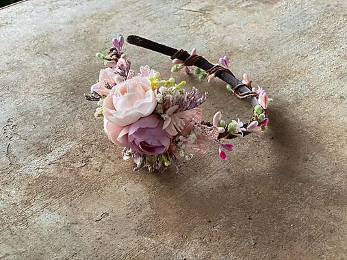 """Kvetinová čelenka """"láska na počkanie"""""""