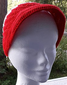 Čiapky - Červenobielá čiapka-jarno letná - 12242440_
