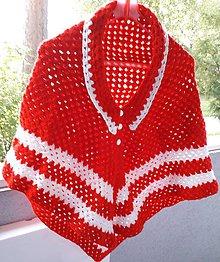 Iné oblečenie - Červeno biela pelerínka pre dievčatko - 12242465_