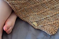 Detské doplnky - Baby deka LEYA do kočíka či postieľky, 100% merino - 12242059_