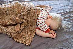 Detské doplnky - Baby deka LEYA do kočíka či postieľky, 100% merino - 12242060_