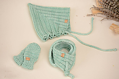 Detské súpravy - Baby set ERIC (3 doplnky plus deka), 100% merino - 12242473_